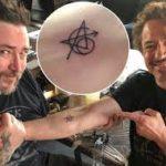Robert Downey Jr. tattoo image.