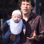 jesse eisenberg and his son