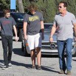 Arnold Schwarzenegger And Christopher Schwarzenegger image.