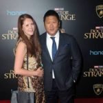 Benedict Wong with his wife