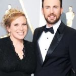 Chris Evans with his sister Carly Evans