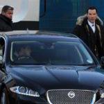 Jaguar F car and Benedict cumberbatch image.