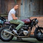 Ryan Reynolds bike Triumph