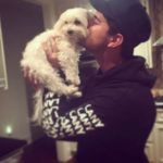 Taylor Lautner and his dog Roxy