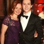 Tom Holland with his mother Nicola Elizabeth