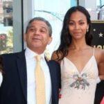 Zoe Saldana with her father Aridio