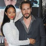 Zoe Saldana with her husband Marco Perego