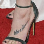 Ashley Greene tattooed lifes a dance on her feet
