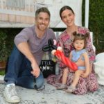 Couple Odette and Dave Annable with daughter Charlie Mae