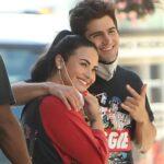 Demi Lovato with fiance Max Ehrich