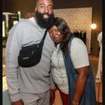 James Harden with his mother Monja Willis