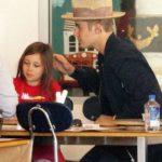 Justin Bie ber with his sister Jazmyn Bieber