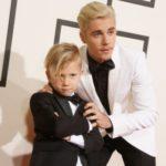 Justin Bieber with his half brother Jaxon Bieber