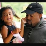 Kanye West and her daughter North West image on North West's 5th birthday
