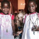 Madonna's twin daughters Stella and Estere - She adopted them
