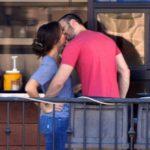 Minka Kelly and Chris Evans kissing