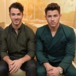 Nick Jonas with his brother Kevin Jonas
