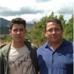 Nick Jonas with his father Paul Kevin Jonas, Sr.