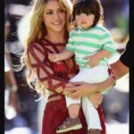 Shakira with her son Milan Pique Mebarak