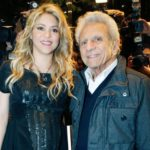 Shakira with his father William Mebarak Chadid