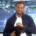 anthony mackie and pet dog image