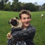 jack gleeson and his pet dog