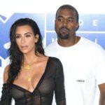 kanye West with his wife Kim Kardashian