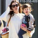 Anne Hathawat with her son Jonathan Rosebanks Shulman