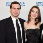 Anne Hathaway with her brother Thomas Hathaway