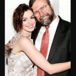 Anne Hathaway with her father Gerald Thomas Hathaway