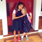 Bruce Willis's daughters Evelyn and Mabel going to school