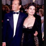 Bruce willis with his ex wife Demi Moore image