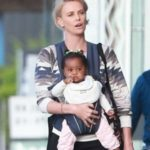 Charlize Theron with her adopted daughter August Theron