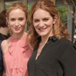 Emily Blunt with her sister Felicity