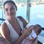 Gal Gadot feeding her daughter Maya