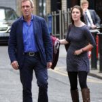 Hugh Laurie with his daughter Rebecca