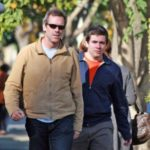 Hugh Laurie with his son Charles