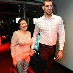 Jonas Valanciunas with his mother Danute Valanciunas