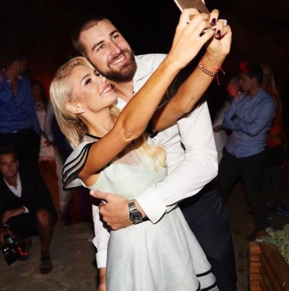 Jonas Valanciunas with his wife Egle Valanciunas