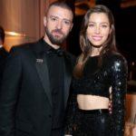 Justin Timberlake with his wife Jessica Biel