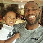 LeBron James with his daughter Zhuri James