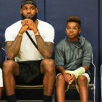 LeBron James with his son Bryce Maximus James