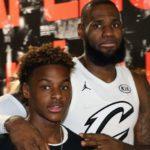 LeBron James with his son LeBron James Jr.