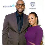 LeBron James with his wife Savannah Brinson James