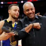 Stephen Curry with his father Dell Curry