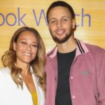 Stephen Curry with his mother Sonya Curry