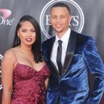 Stephen Curry with his wife Ayesha Curry