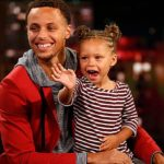 Stephen Curry wiuth his daughter Riley Elizabeth Curry