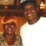 Zach Randolph with his mother Mae Randolph