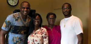 Zach Randolph with his siblings Kelly, Tomika and Roga.